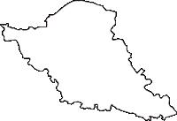 埼玉県比企郡川島町(かわじままち)の白地図無料ダウンロード