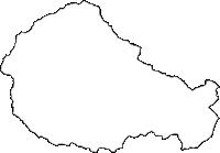 埼玉県秩父郡小鹿野町(おがのまち)の白地図無料ダウンロード