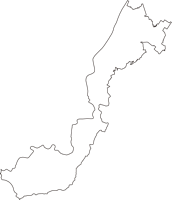 埼玉県児玉郡神川町(かみかわまち)の白地図無料ダウンロード