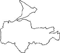 埼玉県大里郡寄居町(よりいまち)の白地図無料ダウンロード
