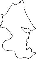 埼玉県北葛飾郡松伏町(まつぶしまち)の白地図無料ダウンロード