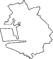 千葉県千葉市中央区(ちゅうおうく)の白地図無料ダウンロード