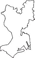 千葉県市川市(いちかわし)の白地図無料ダウンロード