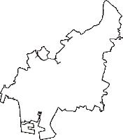 千葉県船橋市(ふなばしし)の白地図無料ダウンロード