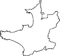 千葉県館山市(たてやまし)の白地図無料ダウンロード
