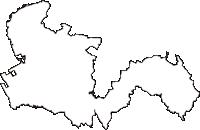 千葉県木更津市(きさらづし)の白地図無料ダウンロード