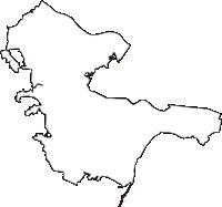 千葉県柏市(かしわし)の白地図無料ダウンロード