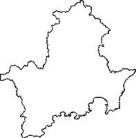 千葉県勝浦市(かつうらし)の白地図無料ダウンロード