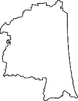 千葉県長生郡一宮町(いちのみやまち)の白地図無料ダウンロード