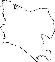 東京都世田谷区(せたがやく)の白地図無料ダウンロード