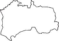 東京都練馬区(ねりまく)の白地図無料ダウンロード