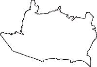 東京都府中市(ふちゅうし)の白地図無料ダウンロード