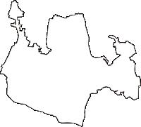 東京都調布市(ちょうふし)の白地図無料ダウンロード