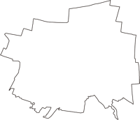 東京都小金井市(こがねいし)の白地図無料ダウンロード