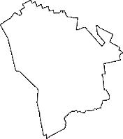 東京都福生市(ふっさし)の白地図無料ダウンロード