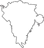 東京都西多摩郡瑞穂町(みずほまち)の白地図無料ダウンロード