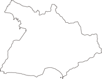 神奈川県鎌倉市(かまくらし)の白地図無料ダウンロード