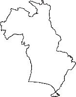 神奈川県藤沢市(ふじさわし)の白地図無料ダウンロード