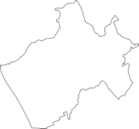 神奈川県足柄上郡大井町(おおいまち)の白地図無料ダウンロード