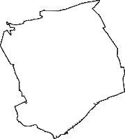 新潟県新潟市東区(ひがしく)の白地図無料ダウンロード