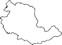 新潟県新発田市(しばたし)の白地図無料ダウンロード