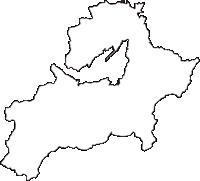 新潟県妙高市(みょうこうし)の白地図無料ダウンロード