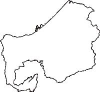 新潟県上越市(じょうえつし)の白地図無料ダウンロード