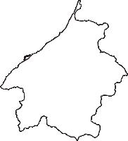 新潟県三島郡出雲崎町(いずもざきまち)の白地図無料ダウンロード