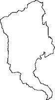 新潟県中魚沼郡津南町(つなんまち)の白地図無料ダウンロード