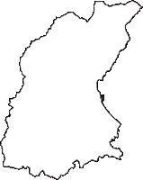 富山県氷見市(ひみし)の白地図無料ダウンロード