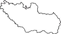 富山県中新川郡上市町(かみいちまち)の白地図無料ダウンロード