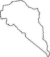 富山県下新川郡朝日町(あさひまち)の白地図無料ダウンロード