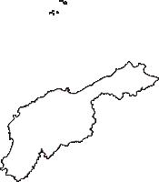 石川県輪島市(わじまし)の白地図無料ダウンロード
