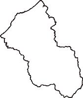石川県加賀市(かがし)の白地図無料ダウンロード