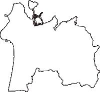 石川県羽咋市(はくいし)の白地図無料ダウンロード