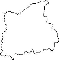 福井県大野市(おおのし)の白地図無料ダウンロード