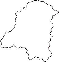 福井県今立郡池田町(いけだちょう)の白地図無料ダウンロード