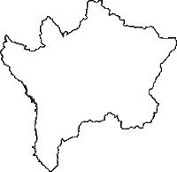 福井県丹生郡越前町(えちぜんちょう)の白地図無料ダウンロード