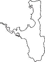 福井県三方郡美浜町(みはまちょう)の白地図無料ダウンロード