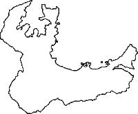 福井県大飯郡高浜町(たかはまちょう)の白地図無料ダウンロード