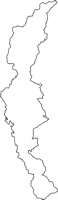山梨県甲府市(こうふし)の白地図無料ダウンロード