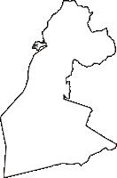 山梨県富士吉田市(ふじよしだし)の白地図無料ダウンロード