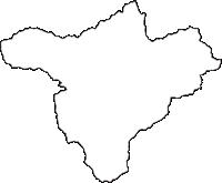 山梨県都留市(つるし)の白地図無料ダウンロード