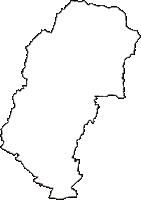 山梨県山梨市(やまなしし)の白地図無料ダウンロード
