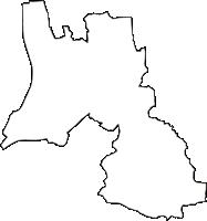 山梨県中央市(ちゅうおうし)の白地図無料ダウンロード