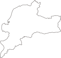 山梨県西八代郡市川三郷町(いちかわみさとちょう)の白地図無料ダウンロード