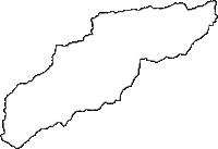 山梨県南都留郡道志村(どうしむら)の白地図無料ダウンロード
