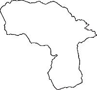 山梨県南都留郡西桂町(にしかつらちょう)の白地図無料ダウンロード