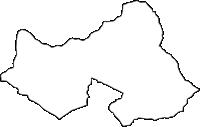 山梨県南都留郡忍野村(おしのむら)の白地図無料ダウンロード