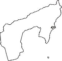 山梨県南都留郡富士河口湖町(ふじかわぐちこまち)の白地図無料ダウンロード
